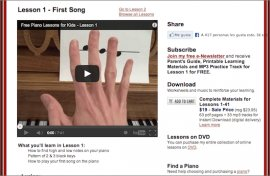 Free Piano Lessons 4 Kids Lesson
