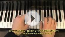 Alouette piano lesson video