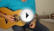 Easy acoustic blues rhythm - guitar lesson. Very basic