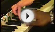 First lesson of an adult beginner. Piano exercises and games