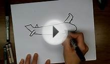 How To Draw a Cartoon Airplane - Easy Drawing Lesson for Kids!