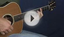 Intermediate acoustic guitar lesson hammer on chord shapes
